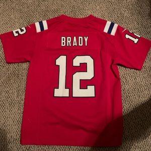 Red Tom Brady jersey youth M